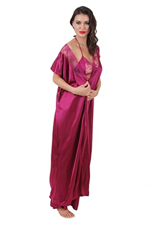 5ae9a1beea0 Masha Women s Nightdress (A10 Jamuni Large)  Amazon.in  Clothing ...