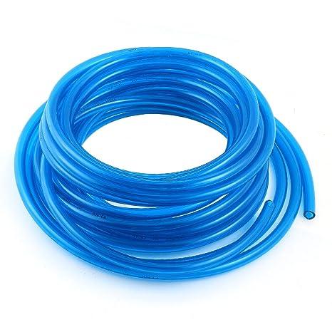 sourcingmap® Tubo de Poliuretano de Compresor de Aire Neumática de Aire Azul Claro de 10mmx6