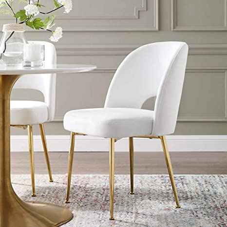 Swell Amazon Com Modway Eei 3836 Whi Rouse Dining Room Side Machost Co Dining Chair Design Ideas Machostcouk