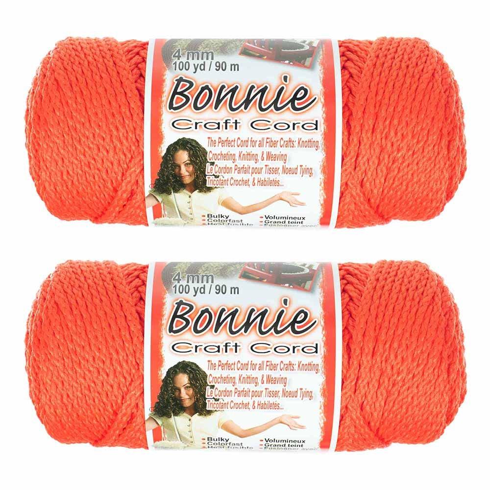 2 Pack Bonnie Macramé Cord – 4mm – 100 yd Lengths – Various Colors