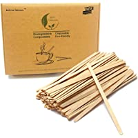 7.5'' Long Beverage Coffee Tea Stir Sticks Stirrers 1000 Count Natural Wooden Collection Stirrer For Hot Drinks