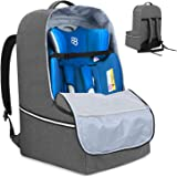 Teamoy Car Seat Travel Bag, Car Seat Gate Check Bag with Top Handle and Reflective Tapes, Infant Carseat Carrier Covers for A