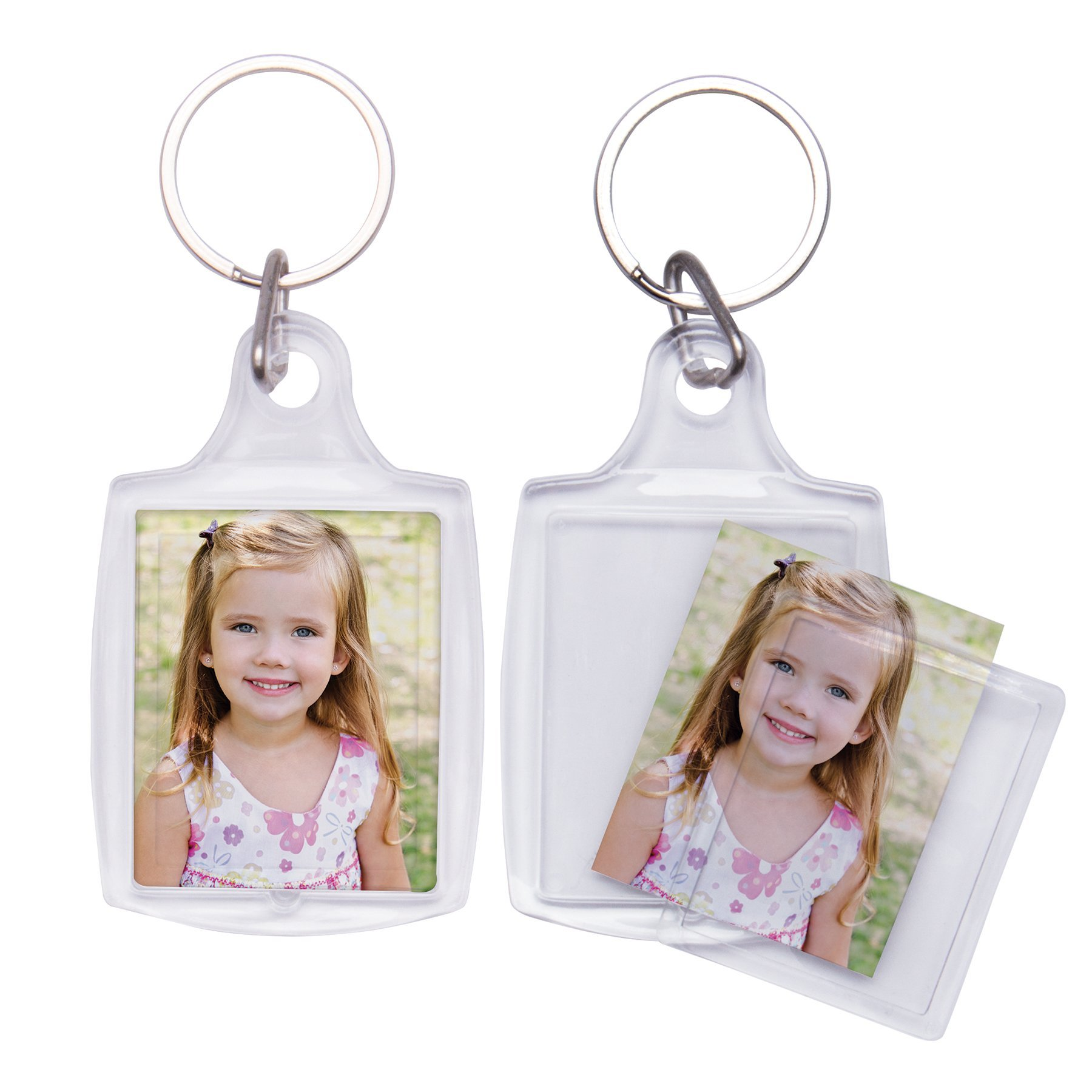 Polybagged Snap-In Photo Keychain - Pack of 100