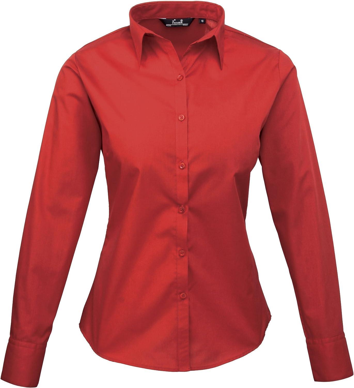 Premier Fitness Womens Poplin Long Sleeve Blouse