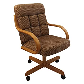 Amazon.com: Casual Rolling Caster silla de comedor con silla ...