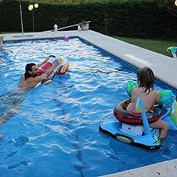 Intex 57520NP - Moto acuática hinchable para niños 117 x 77 cm: Amazon.es: Juguetes y juegos
