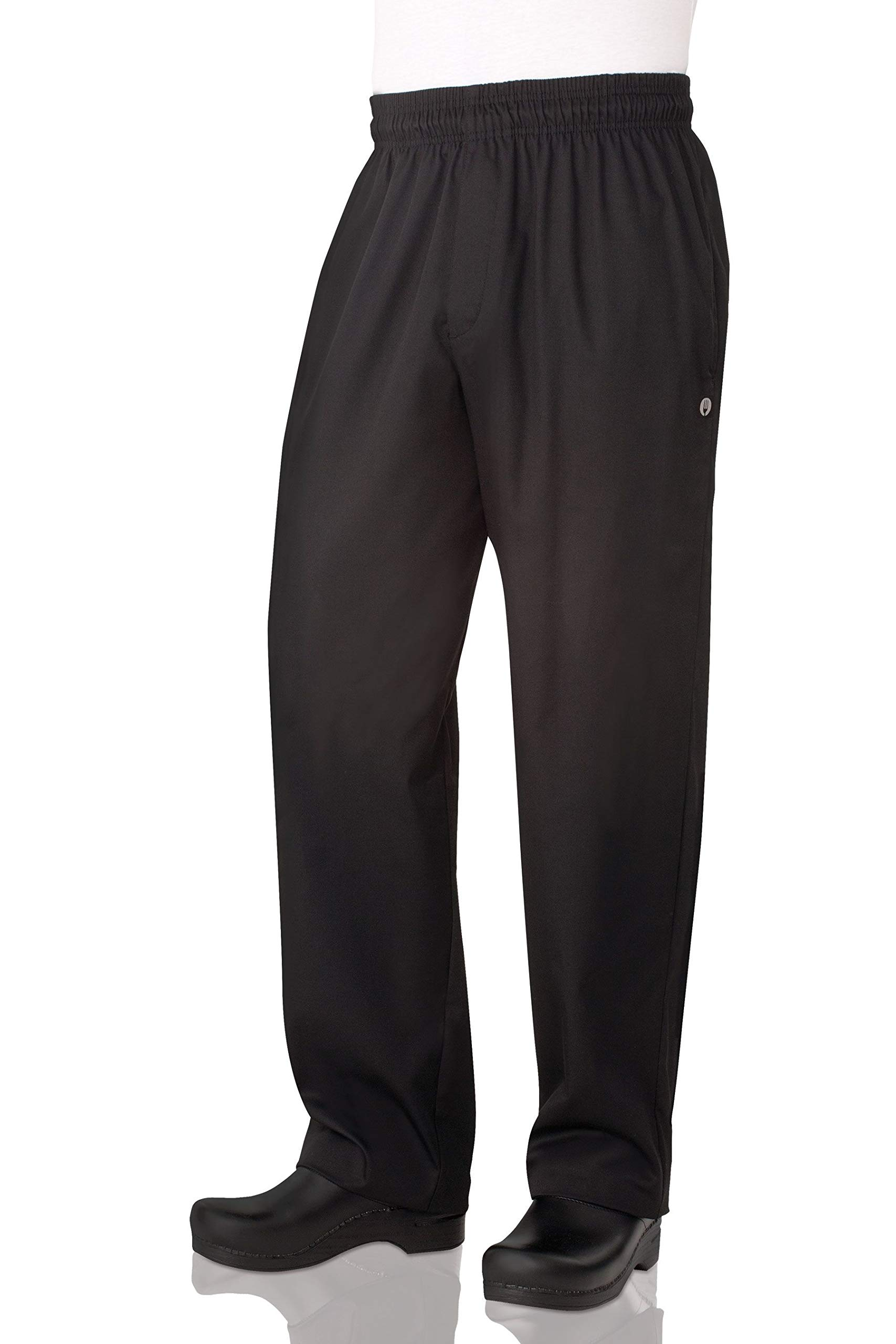 Chef Works Men's Essential Baggy Zip-Fly Chef Pant, Black, Medium by Chef Works