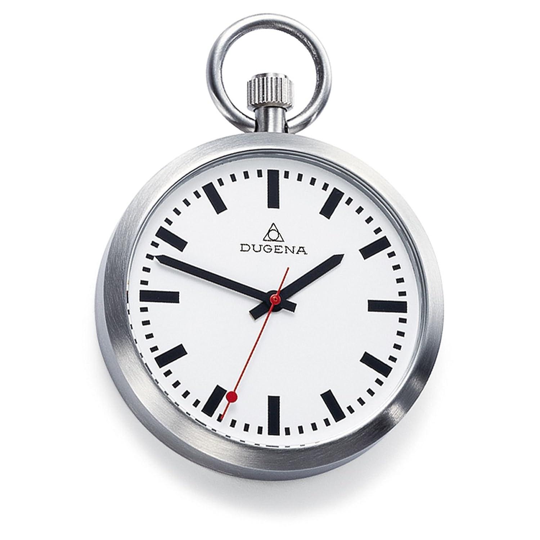 Taschenuhr  DUGENA 4288025 Taschenuhr Lepine mit Kette Uhr Unisex Edelstahl ...