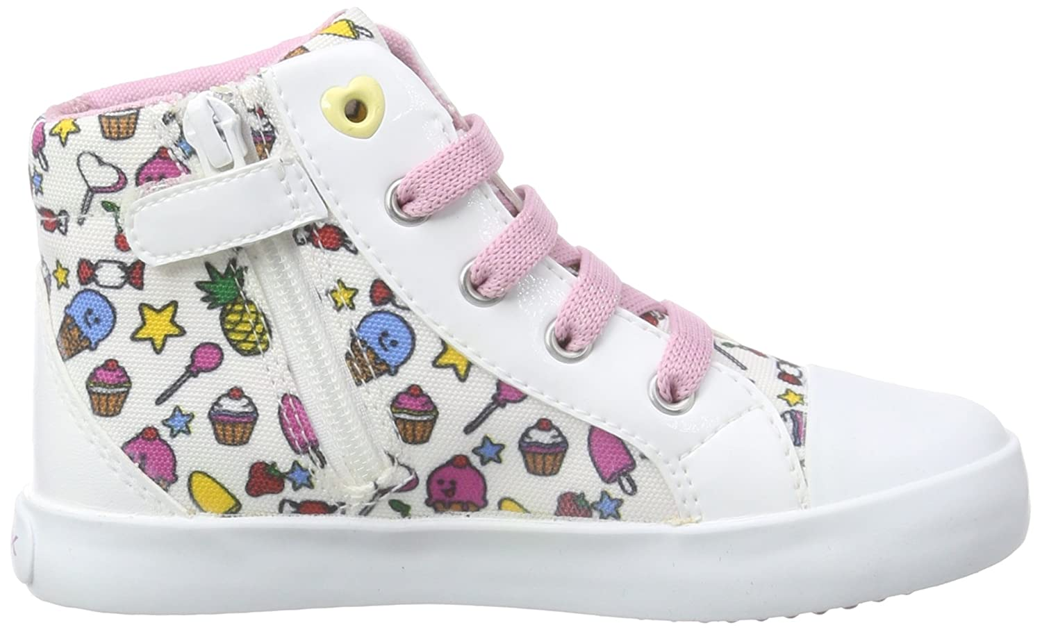 Baby-Boys, First Steps Shoes, B Kiwi Girl F, Multi (Multicolor (White/Multi)), Toddler 5 Geox