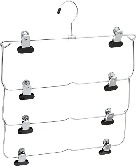 Black Whitmor 4-Tier Blouse Hanger Chrome