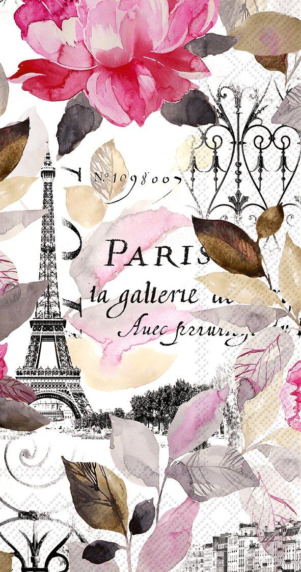 Celebrate the Home Jardin Paris 3-Ply Paper Guest Towels/Banquet Napkins, Pink, 16-Count