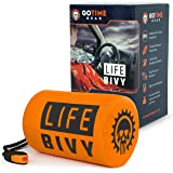 Go Time Gear Life Bivy Emergency Sleeping Bag Thermal Bivvy - Use as Emergency Bivy Sack, Survival Sleeping Bag, Mylar Emerge