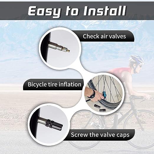 Bicycle Presta Valve Caps Road Bike French TyreF//V Inner Tube Pump Tire Cover SE