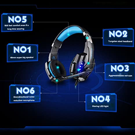 Vapeonly KOTION EACH G9000 Gaming Headset Cuffie con microfono da 3 ... 192366a13b12
