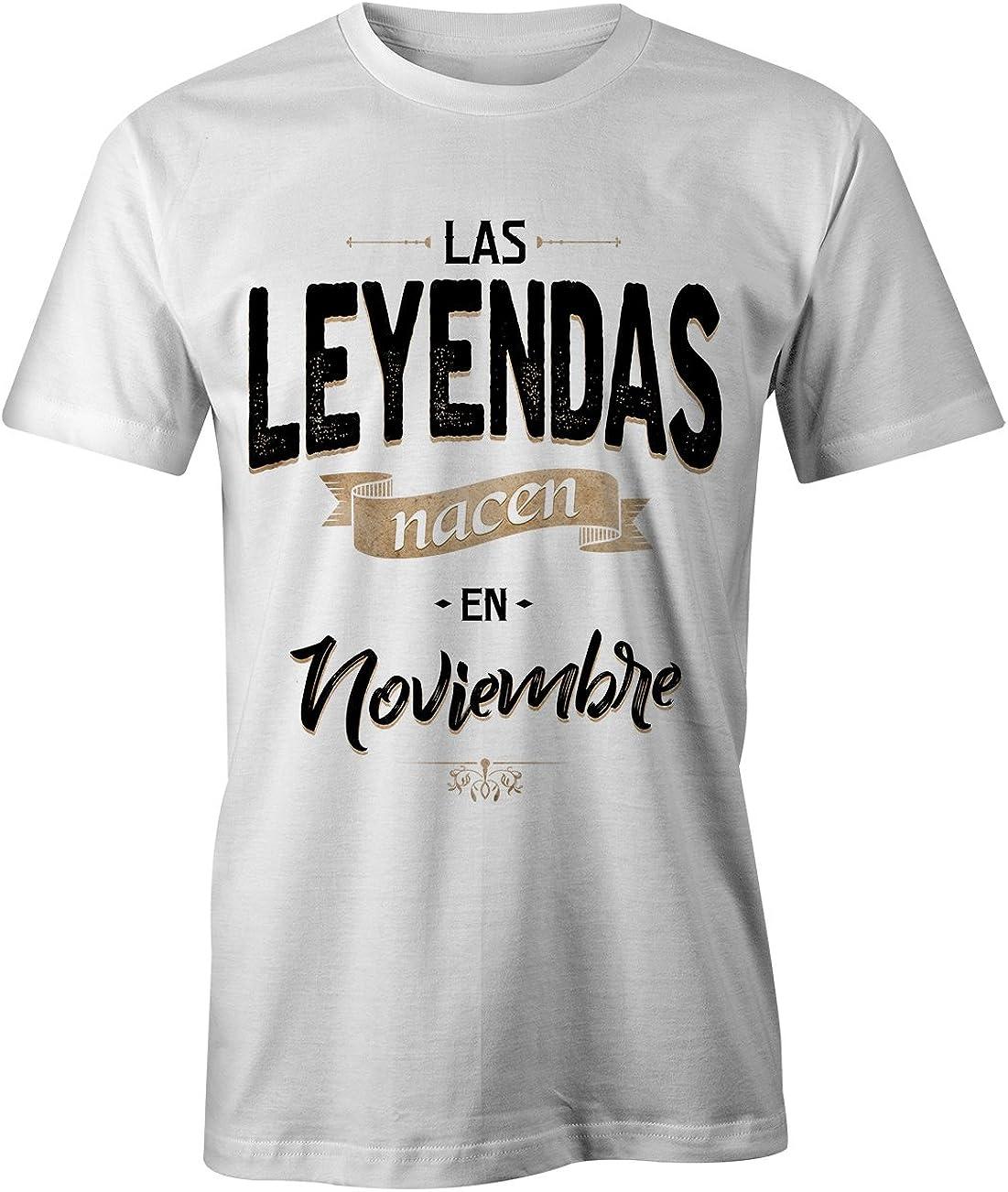 RiotBunny Las Leyendas Nacen en Noviembre Camiseta de Cumpleaños Hombres: Amazon.es: Ropa y accesorios