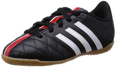 best website 32338 1d360 Adidas Jungen 11Questra IN Jr Hallenschuhe SchwarzWeißRot 000), 32 EU