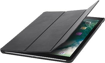 StilGut Housse iPad Pro 12.9 (2017) Couverture en Cuir Fin avec Fonction Veille et avec Fonction Support. Coque de Protection pour iPad Pro 12,9 Pouces (2017), Noir Nappa
