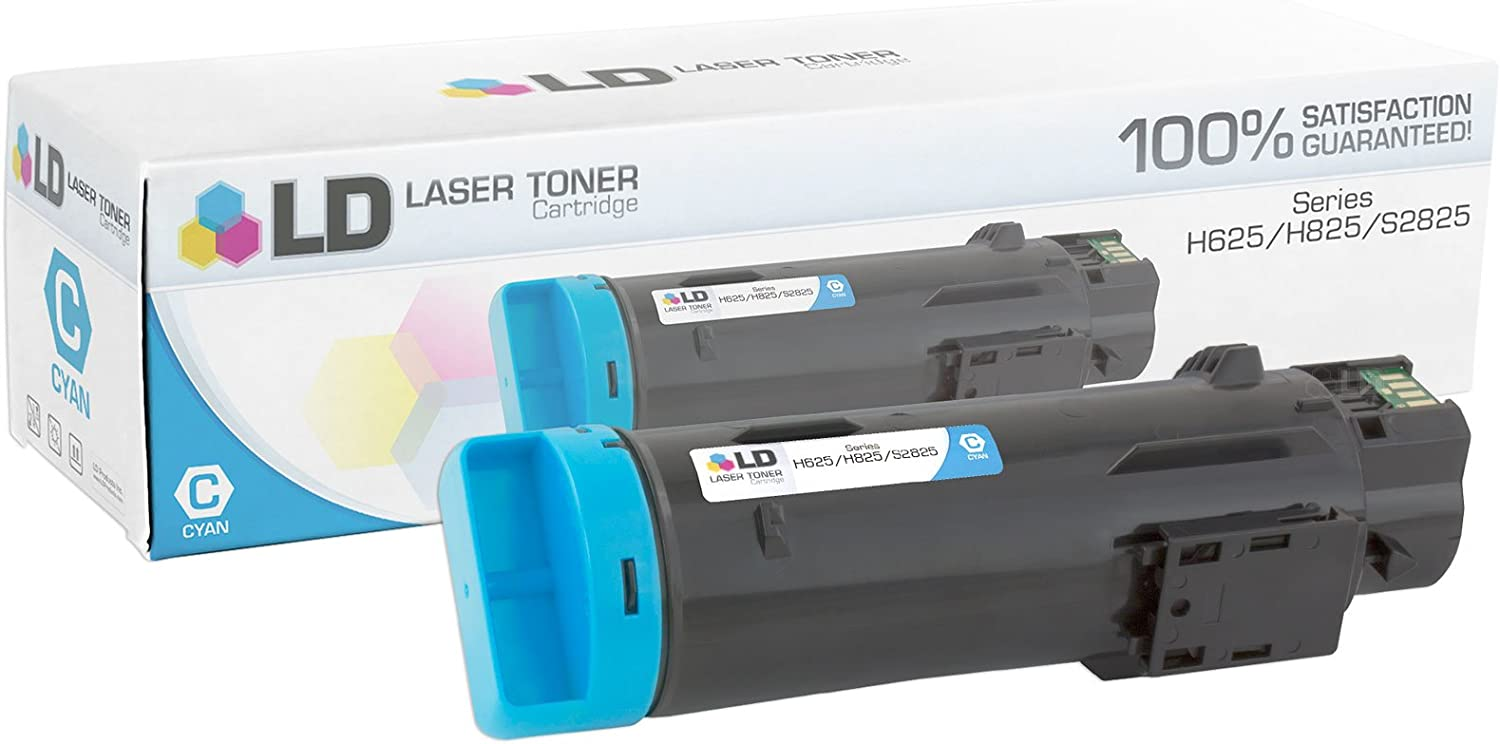 LD Compatible Toner Cartridge Replacement for Dell 593-BBOX P3HJK (Cyan)