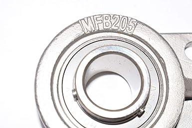 AMI MUCFBL205-15RFB 15//16 STAINLESS SET SCREW RF BLACK 3-BOLT FLANGE BRACKET