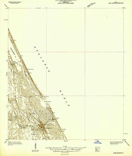 Amazon Com Yellowmaps Port Orange Fl Topo Map 1 48000 Scale 15 X