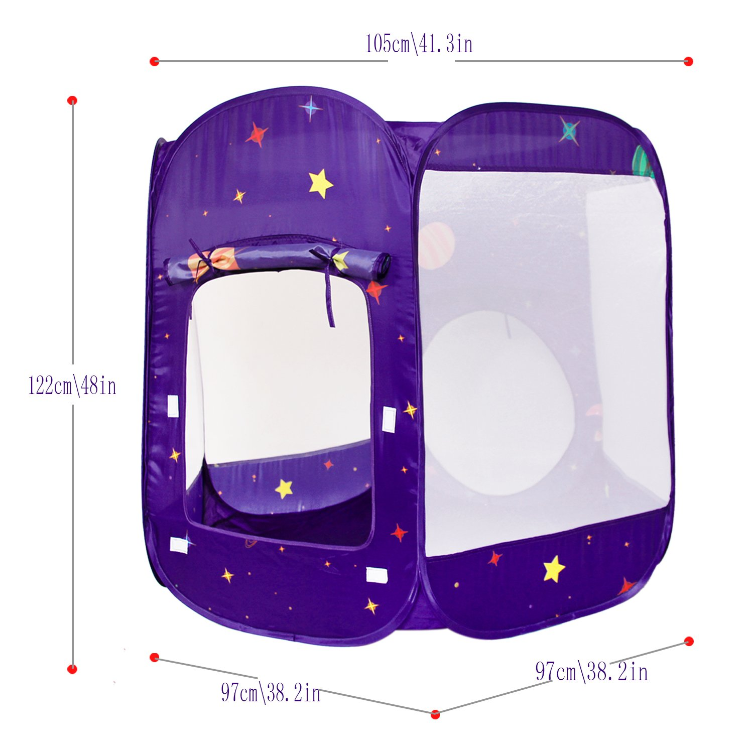 Homfu 3 in 1 Tunnel Tent for Kids Play House For Children Toddler Boys Girls Toy Crawl Outdoor Indoor Pop up Play tent