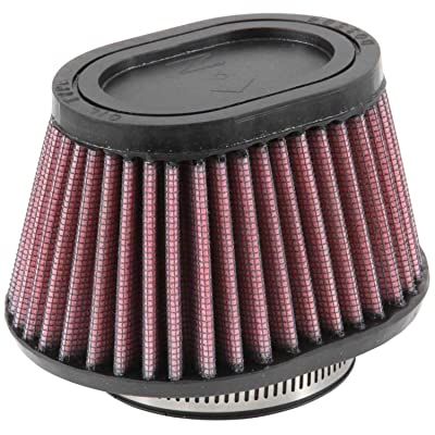 K&N Universal Clamp-On Air Filter: High Performance, Premium, Replacement Engine Filter: Flange Diameter: 2.4375 In, Filter Height: 2.75 In, Flange Length: 0.625 In, Shape: Oval Straight, RU-2780: Automotive