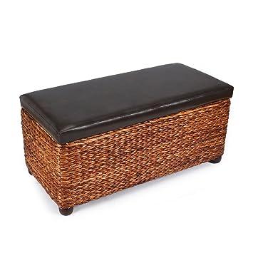 Amazoncom Adeco Storage Ottoman Bench Chair Stool by Bulrush