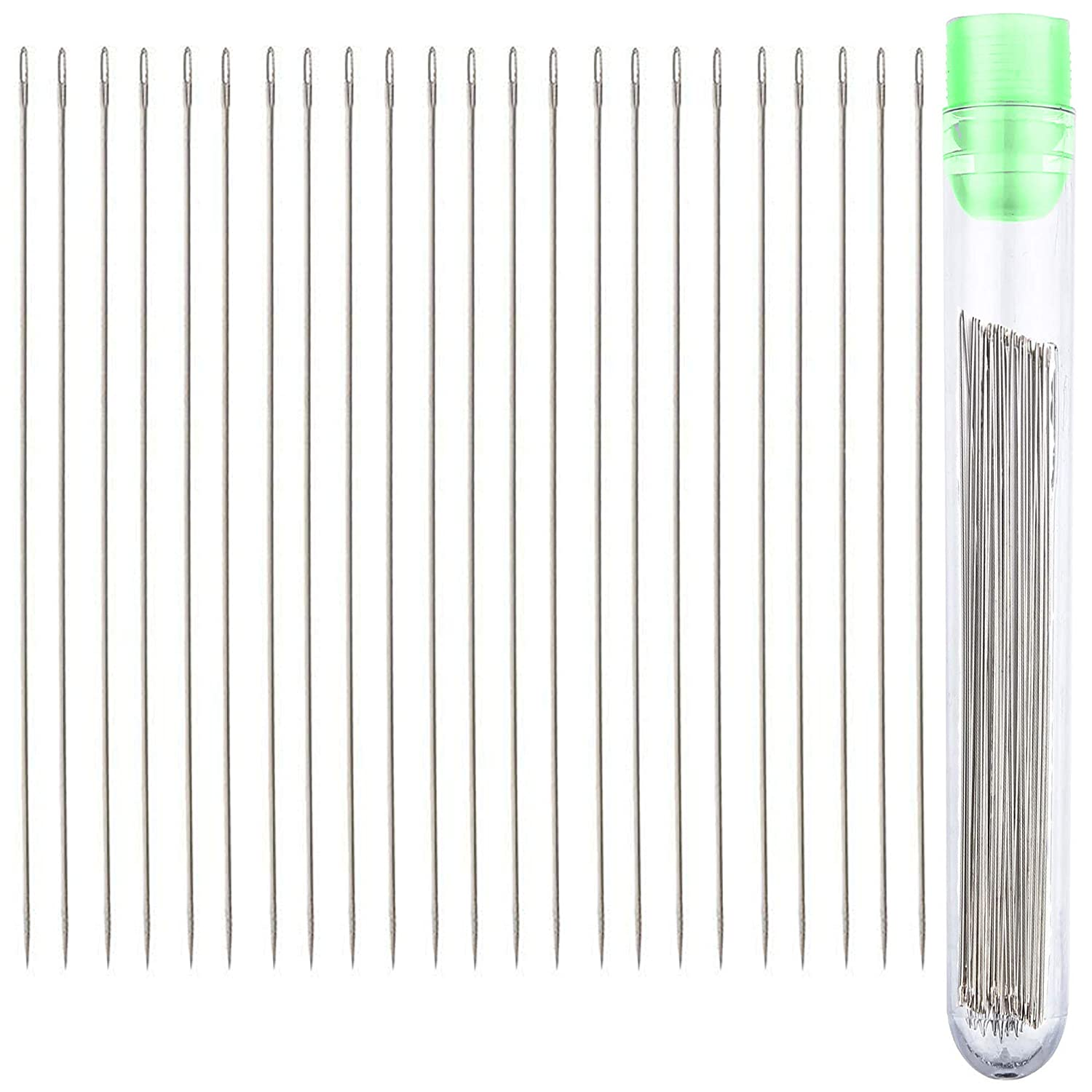 Beading Needles Size 10 (25pcs) with Needle Storage Tube ​ UA Crafts