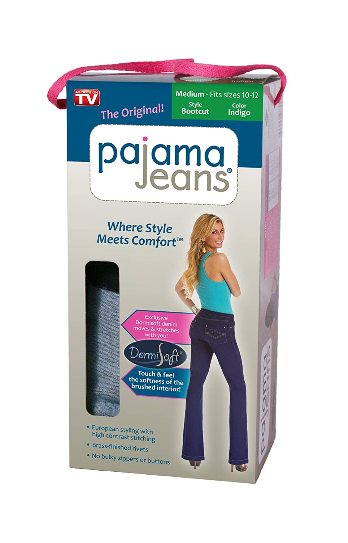 d9304693f2a Amazon.com: Hampton Direct Inc 80027 Pajama Jeans - Medium, Blue Denim:  Clothing