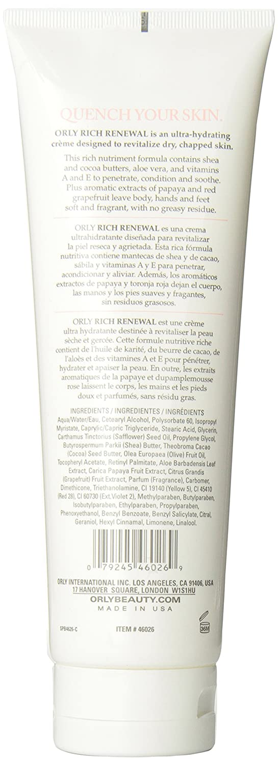 Amazon.com : Orly Hydrating Creme, Pucker, 8 Ounce : Hand Creams : Beauty