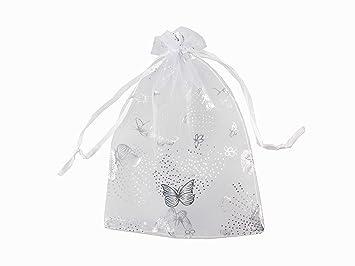Amazon.com: QIANHAILIZZ 5 x 7 pulgadas 100 mariposas Organza ...