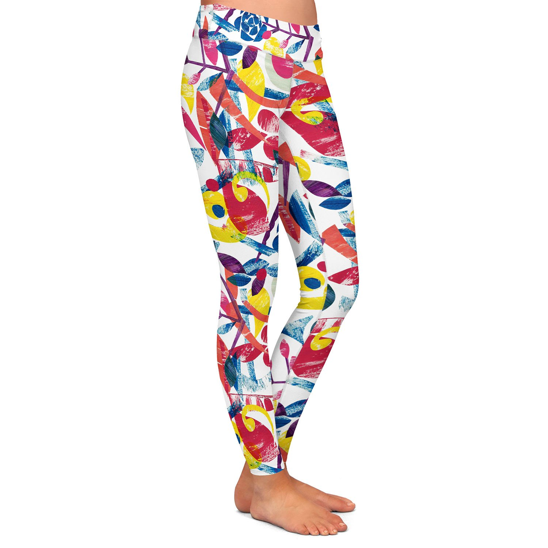 Athletic Yoga Leggings from DiaNoche Designs by Yasmin Dadabhoy Collage Multi