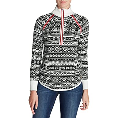 Eddie Bauer Women's Engage Fair Isle 1/4-Zip Sweater at Amazon ...
