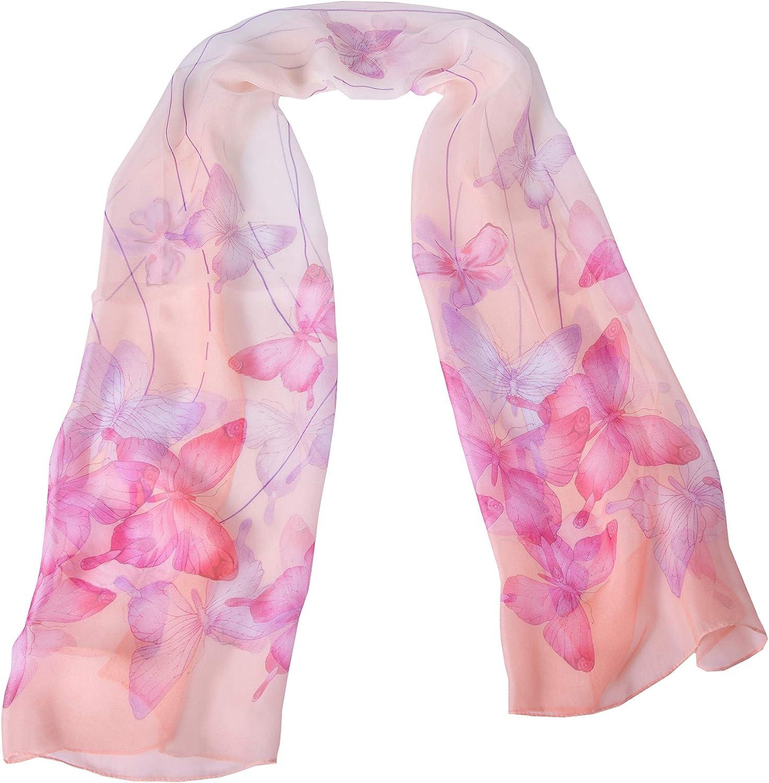 MINGLIN Women's Chiffon Scarf Lightweight Fashion Shawl Wrap Scarves