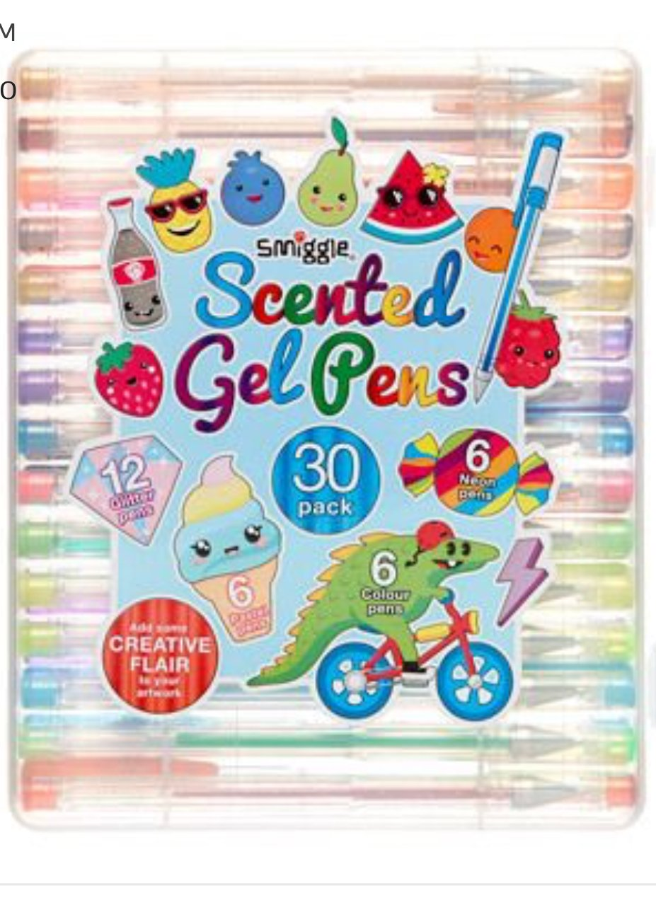 30 Scented gel pens with carry case by Smiggle