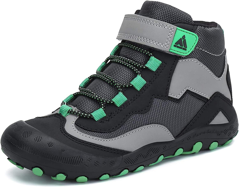 Amazon.com | Mishansha Kids Outdoor Hiking Boots Boys Ankle Booties Girls Trekking  Walking Shoes, A-Black Green 2.5 Little Kid | Boots