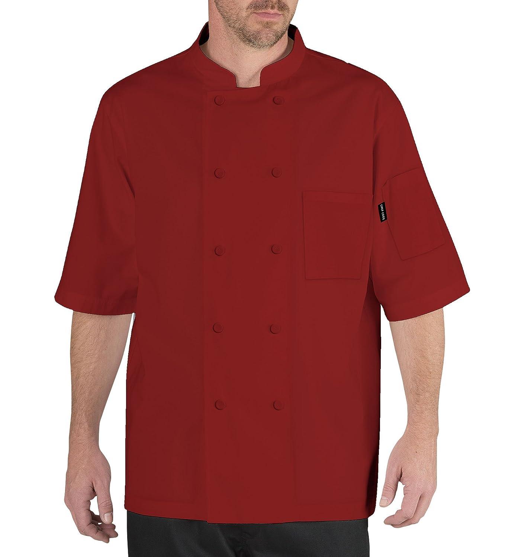 Chef Code Men's Short Sleeve Unisex Cool Breeze Coats Chef Code Uniforms CC105