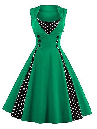 Women Robe Pin Up Dress Retro New Vintage 50s 60s Rockabilly Dot Swing Summer Elegant Tunic