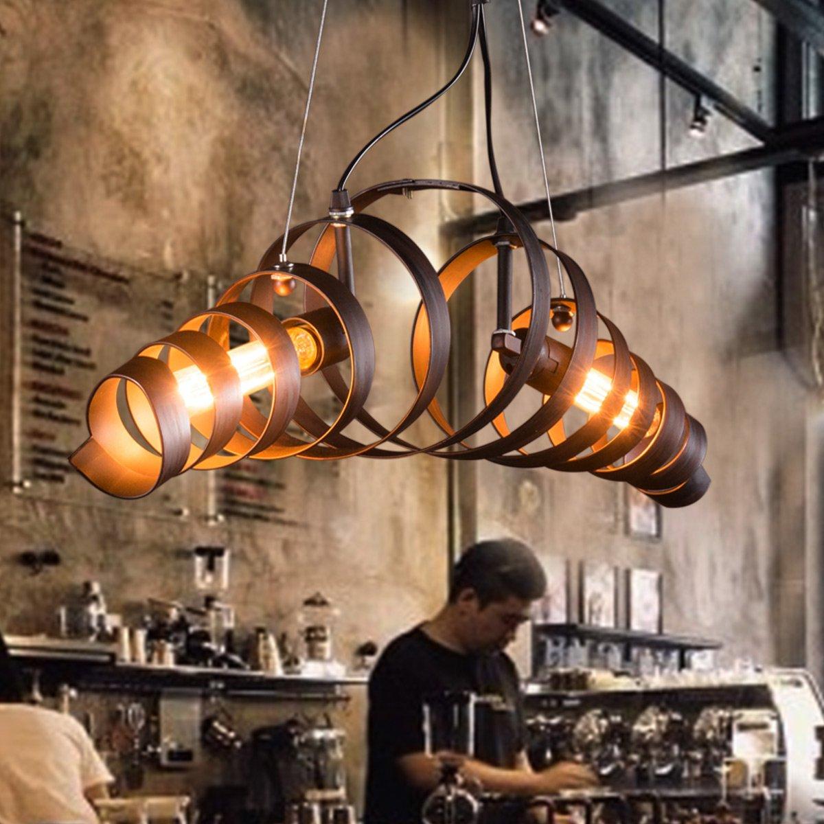 KJLARS Retro Pendelleuchte Vintage Kronleuchter Spiralelampe Hängelampe Pendellampe lampeleuchte Eisen-Lampe Eisen-Lampe Eisen-Lampe Industrielampe Hängeleuchte de3e31