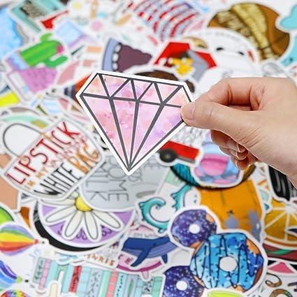 Wasserdicht Vinyl VSCO Stickers Graffitti Decals f/ür Auto Motorr/äd Fahrrad Skateboard Snowboard Gep/äck Laptop MacBook Pad Logo EKKONG Aufkleber 100 St/ück Dekorative Aufkleber