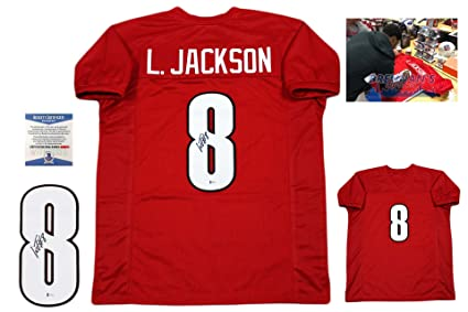 lamar jackson signed jersey
