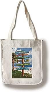 product image for Lantern Press Kauai, Hawaii - Destinations Sign (100% Cotton Tote Bag - Reusable)