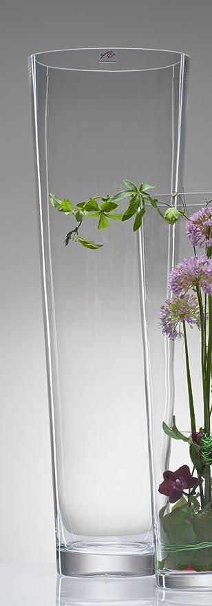 Bodenvase Groß konische glasvase vase glas blumenvase bodenvase groß 70 cm amazon