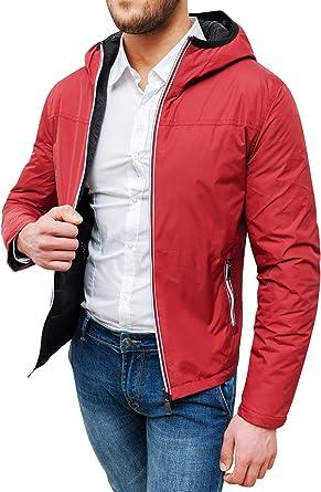 veste homme hiver rouge