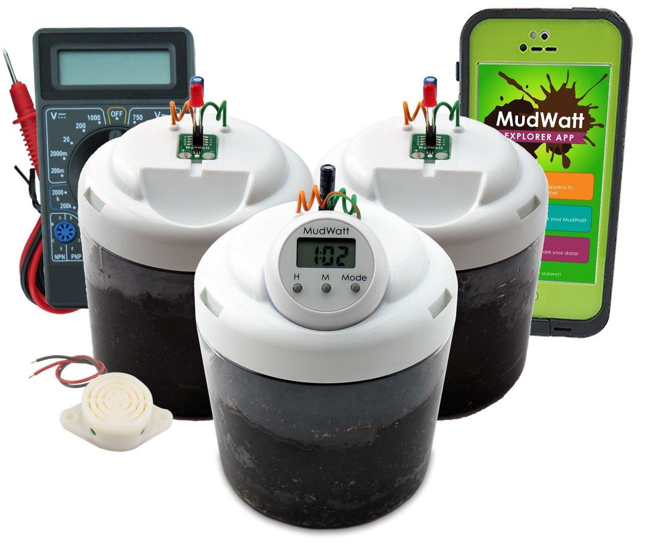 Magical Microbes MudWatt STEM Kit:  Clean Energy from Mud!    Science Fair Pack
