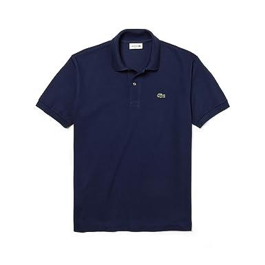 33a1c688ac4ad3 Lacoste Herren Regular Fit Poloshirt L1212, Blau (Marine), XS  (Herstellergröße:
