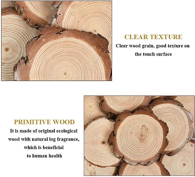 VOSAREA Holzscheiben Rund Naturholz Verzierung Scheiben Tisch Streu Deko f/ür DIY Handwerk Bemalen Hochzeit Mittelst/ücke 60mm 50 St/ück