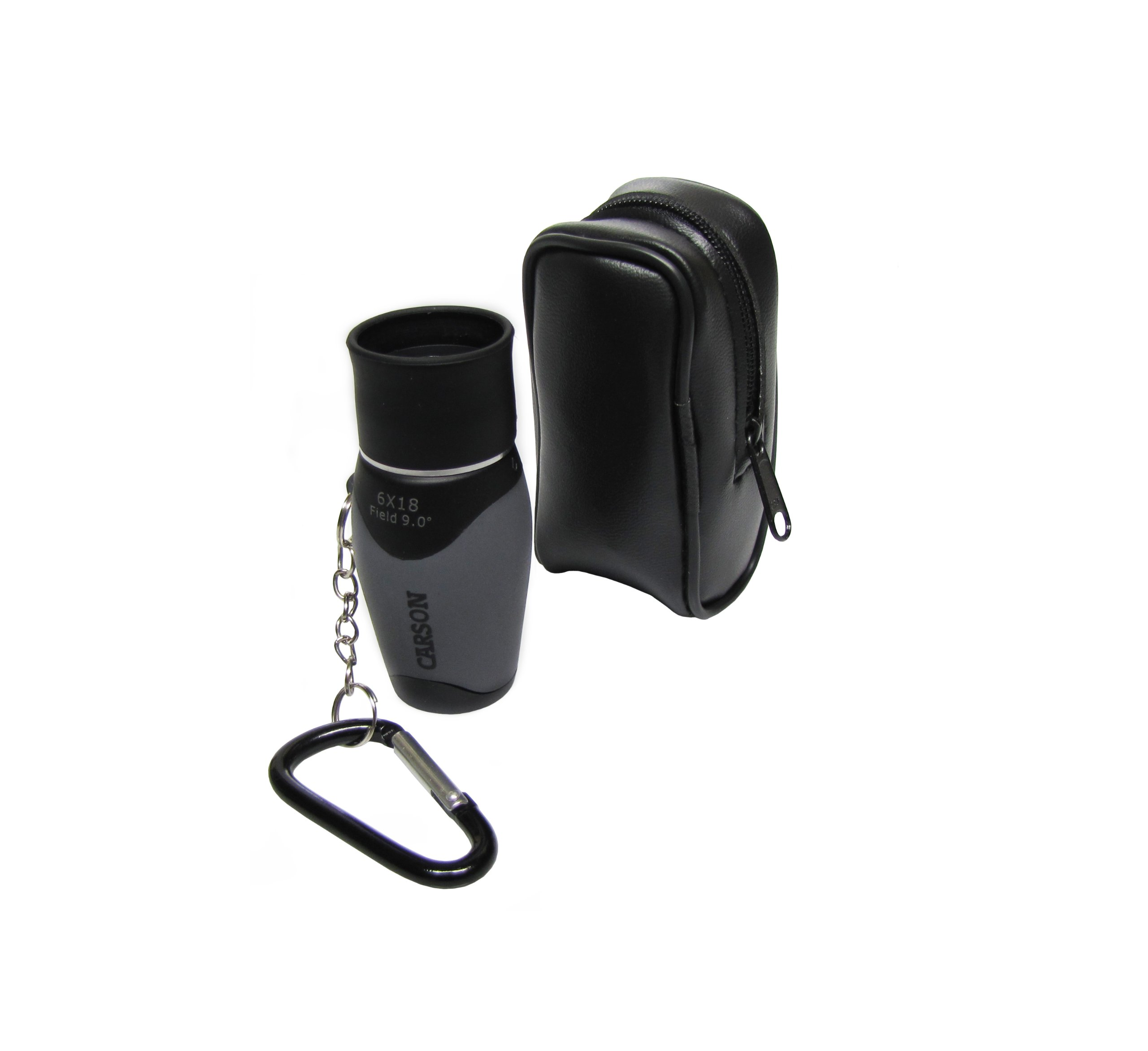 Carson MiniMight 6x18mm Pocket Monocular with Carabiner Clip (MM-618) by Carson
