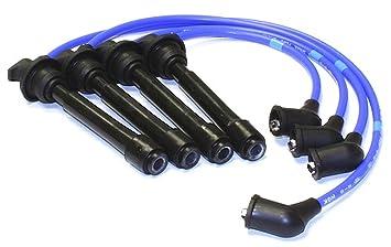 Set (4pcs) Cables Bujía NGK ferrita magnético núcleo azul silicona 7962 Stock: Amazon.es: Coche y moto