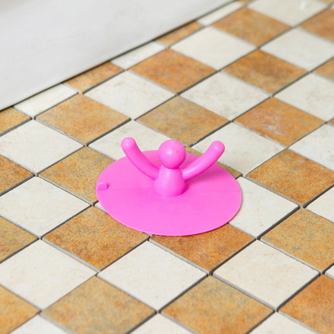 joyliveCY Silikon Bodenablauf Haar Stopper Hand Waschbecken St/öpsel Bad Catcher 10cm